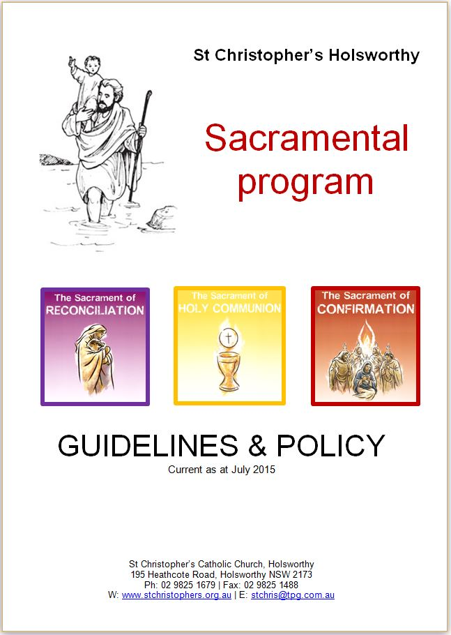 St Christopher Sacramental Program Policy book